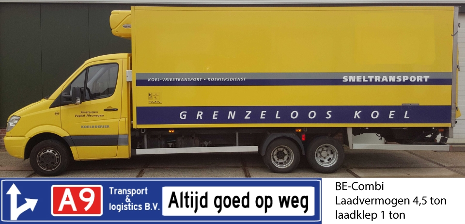 BE-combinatie 4,5 ton laadvermogen